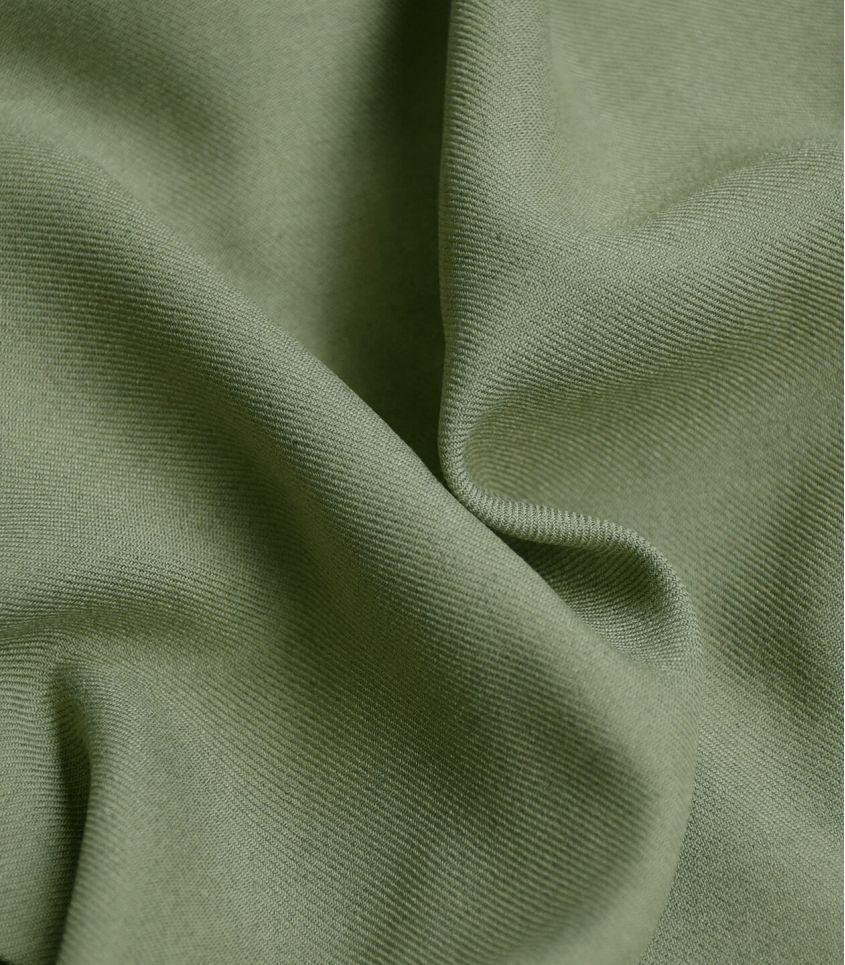 Tissu twill viscose mélange - Khaki