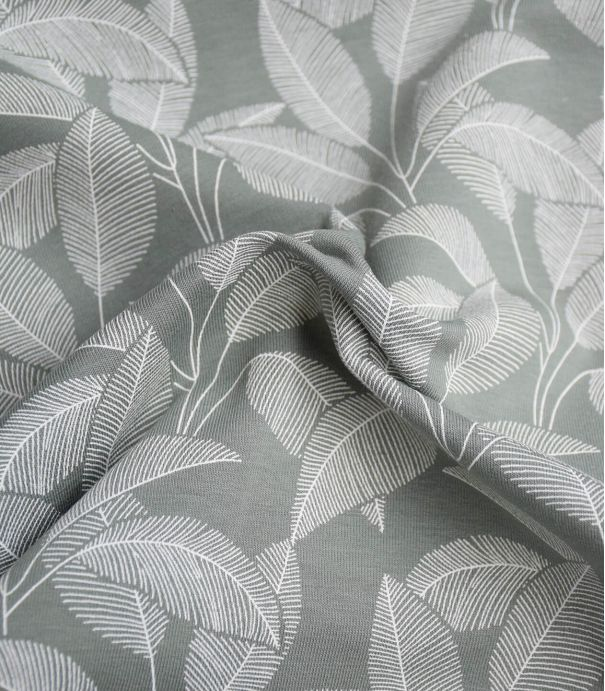 Tissu French terry brushed - Leaves Dusty green