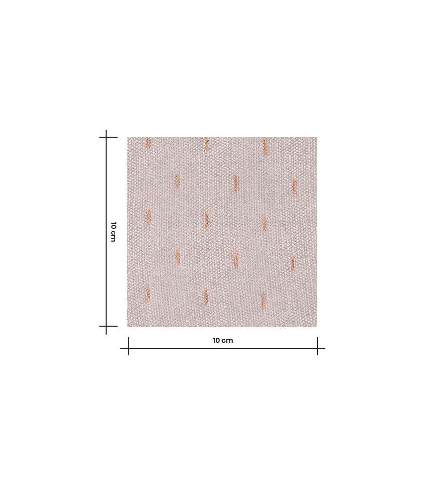 Tissu twill viscose plumetis - Old pink gold