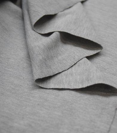 Tissu Jersey piqué - Mid grey