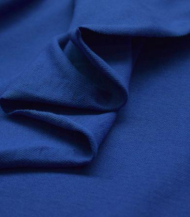 Tissu Jersey piqué - Cobalt