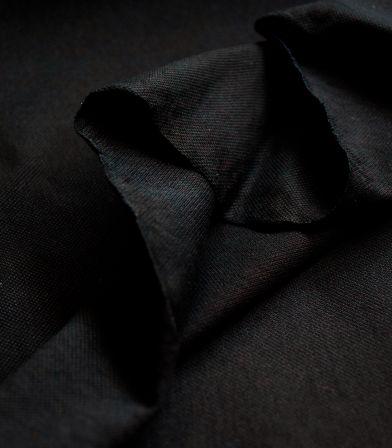 Tissu Jersey piqué - Noir