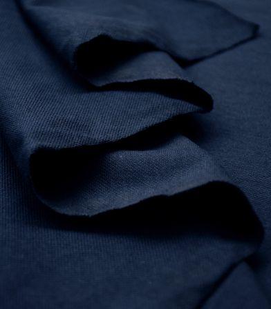 Tissu Jersey piqué - Dark Navy