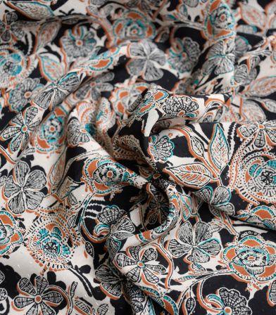 Tissu viscose - Gipsy flowers