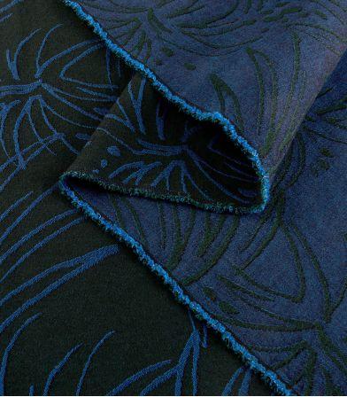 Tissu jacquard fin Island - Neptune