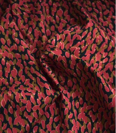 Tissu coton élasthanne Seed - corail