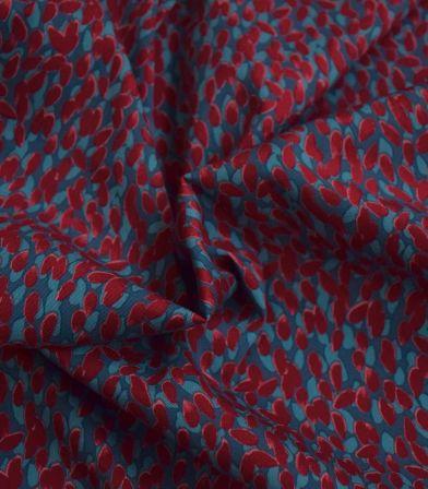 Tissu coton élasthanne Seed - wine
