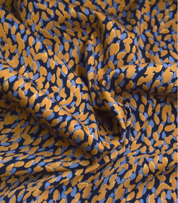 Tissu coton élasthanne Seed - mustard