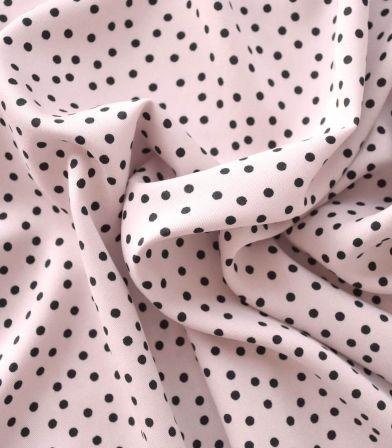 Tissu twill viscose - Small dots nude