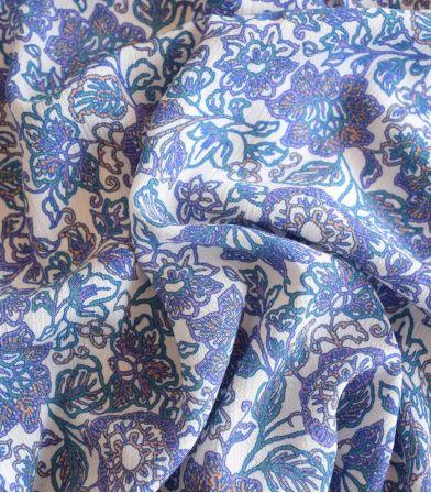 Tissu viscose crinkle Indie folk - Purple