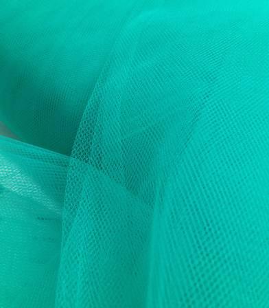 Tulle souple vert émeraude