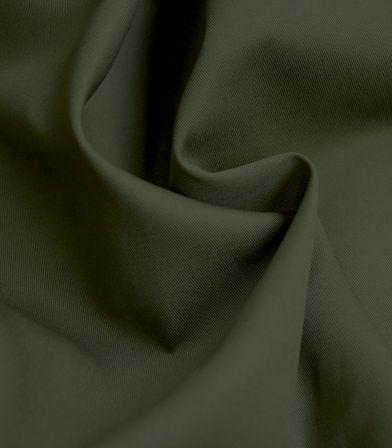 Tissu gabardine vert kaki