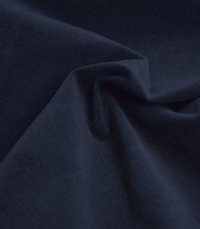 Tissu velours lisse stretch - Marine