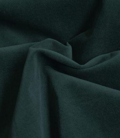 Tissu velours lisse stretch - Vert sombre