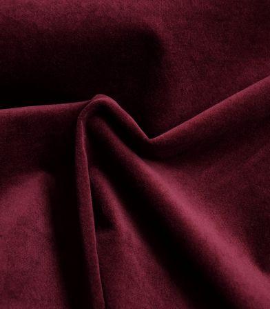 Tissu velours lisse stretch - Bordeaux