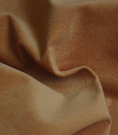 Tissu velours lisse stretch - Caramel