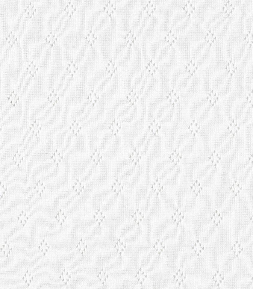 Tissu Jersey ajouré blanc