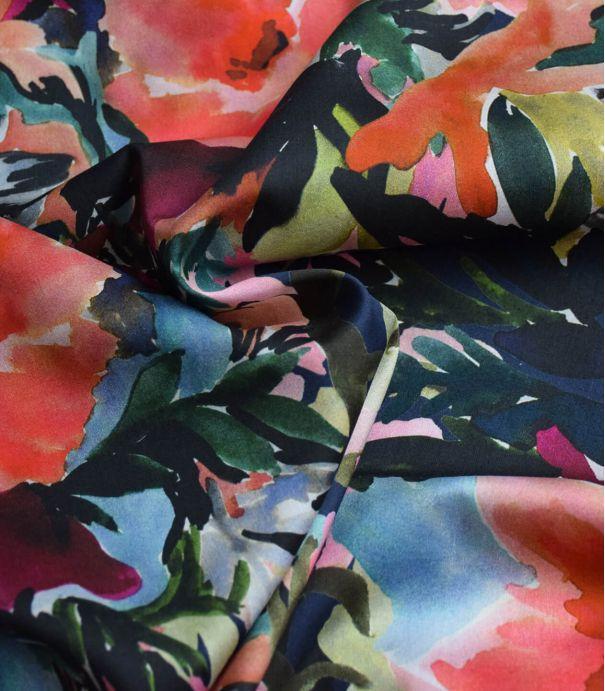 Tissu satin de coton - Watercolor flower pink