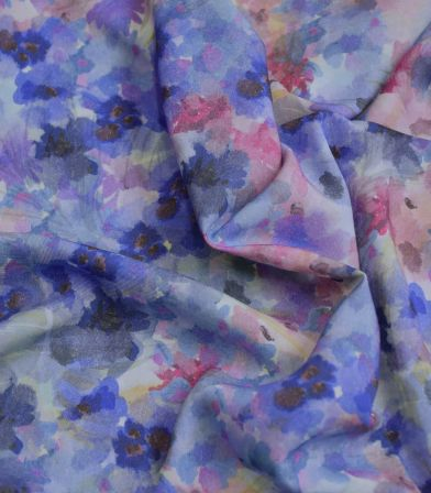 Tissu viscose Primula - Purple