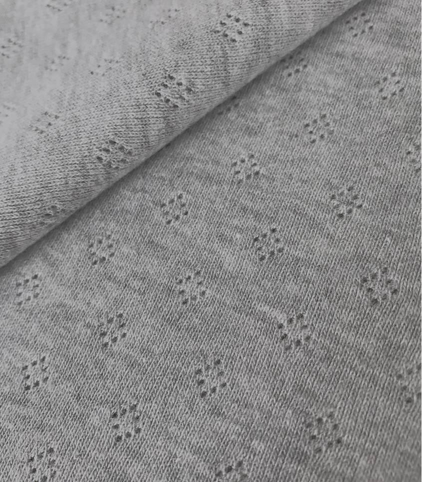 Jersey ajouré gris chiné