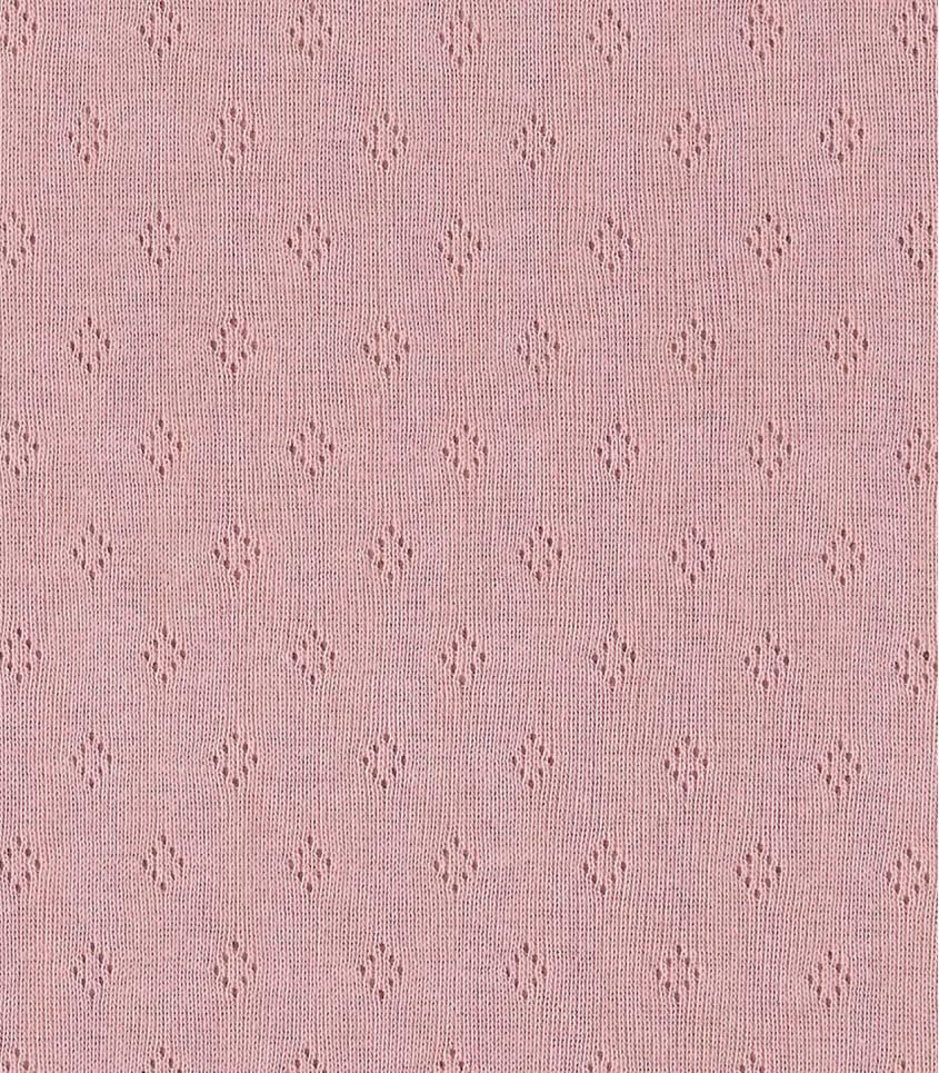 Tissu Jersey ajouré rose