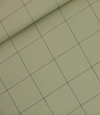 Tissu French Thin grid XL - Green tea