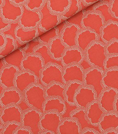 Tissu viscose Basins - Burnt sienna red