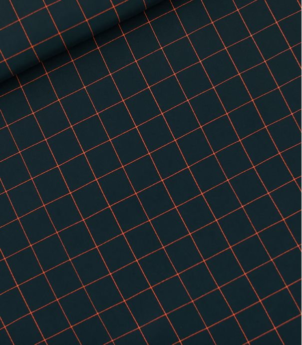 Tissu viscose Thin grid S - Forest river