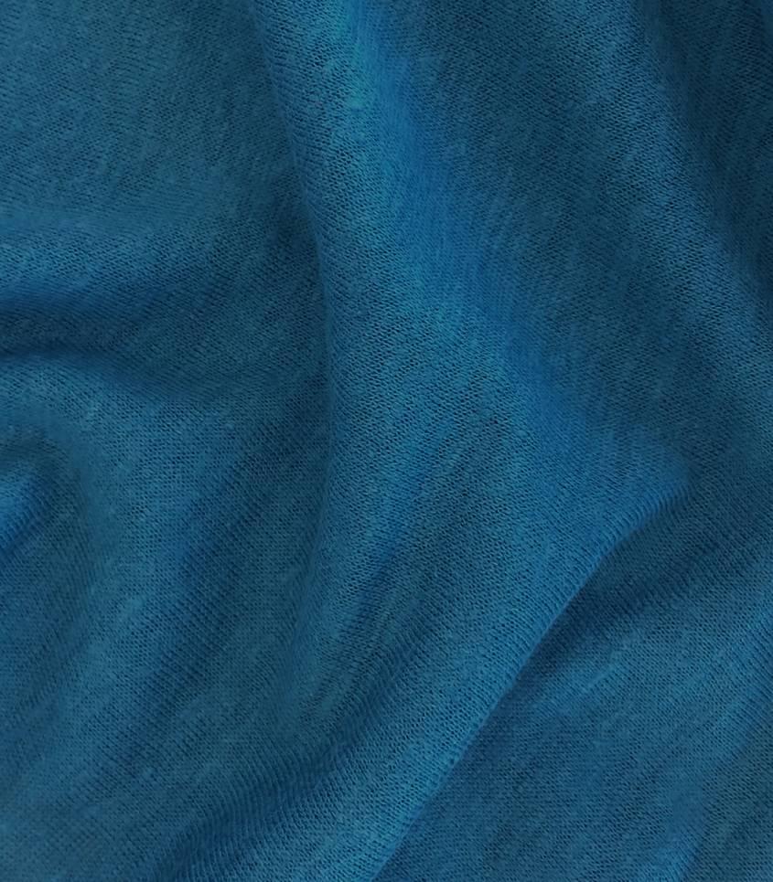 Tissu jersey de lin Lyons blue