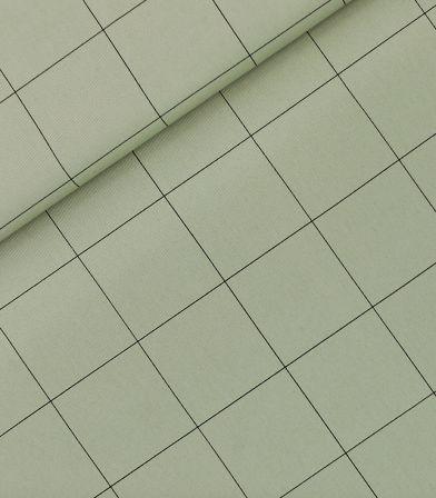 Tissu gabardine Thin grid XL - Green tea
