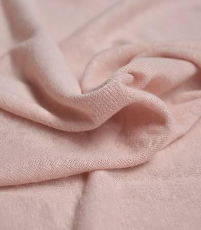 Tissu jersey lin/viscose - pétale