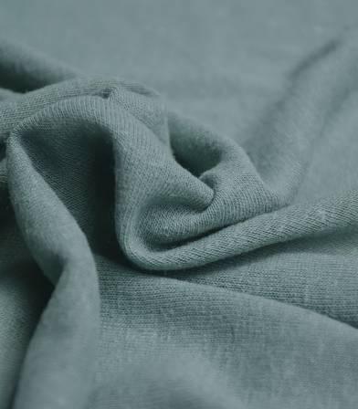 Tissu jersey lin/viscose - smoke green