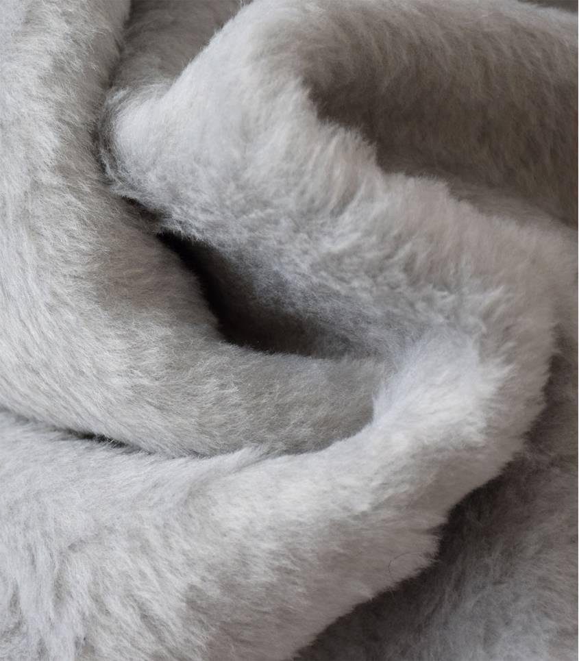Fausse fourrure double face grise