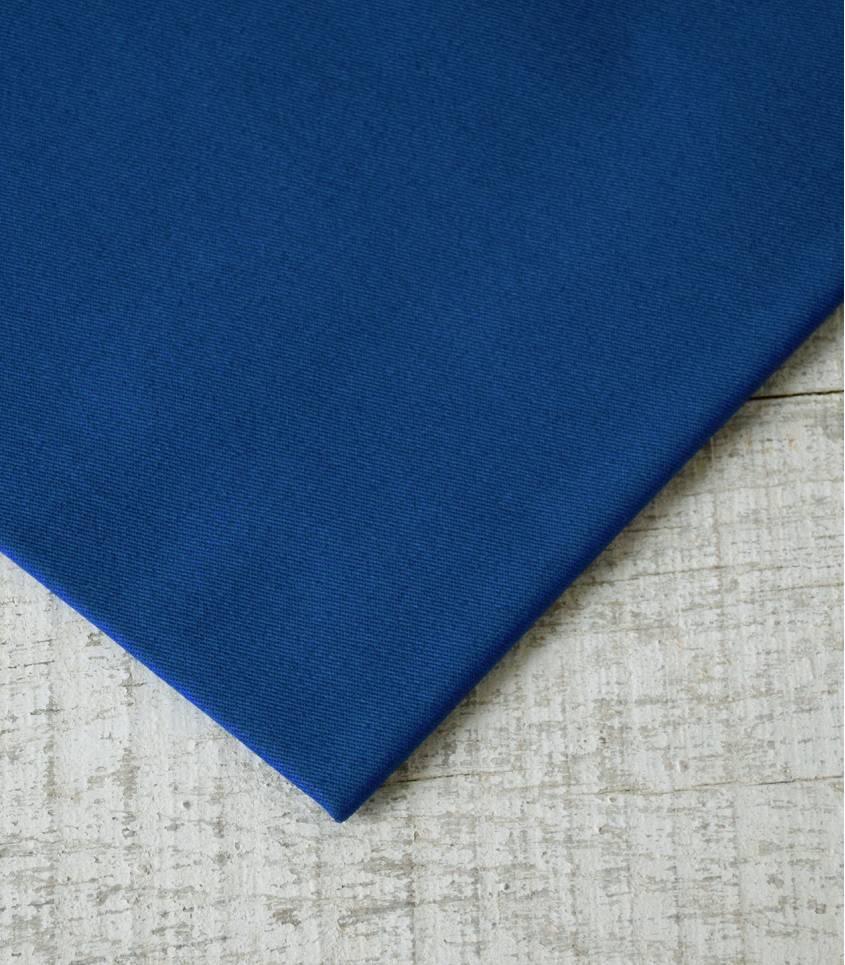 Tissu gabardine bleu roi