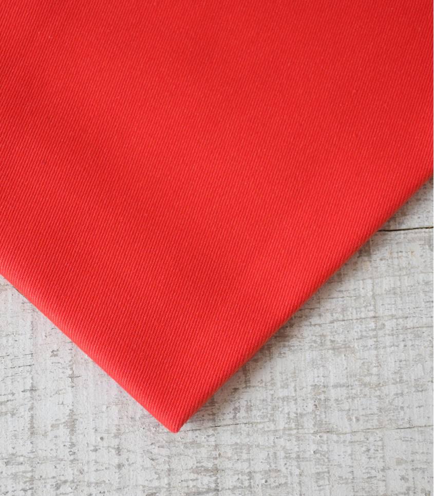 Tissu Gabardine vermillon
