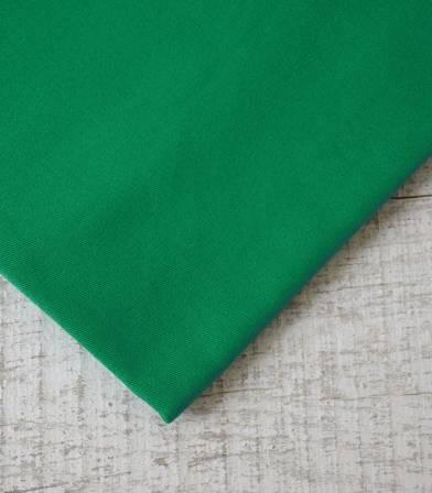 Tissu gabardine vert émeraude