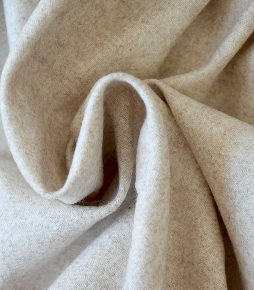 Flanelle de laine beige chiné