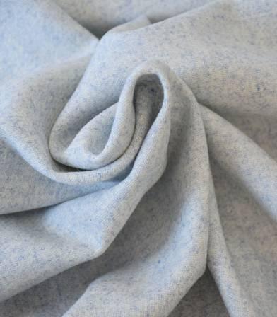 Flanelle de laine bleu chiné