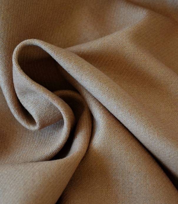 Flanelle de laine camel