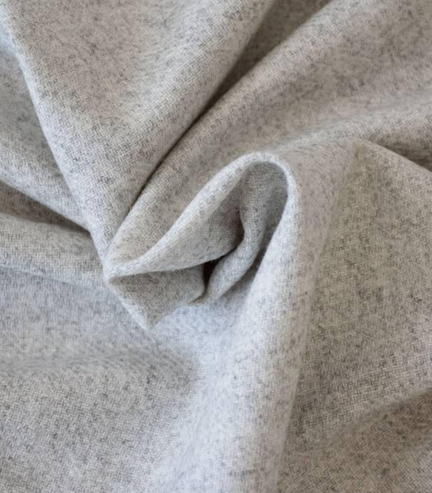 Flanelle de laine gris chiné
