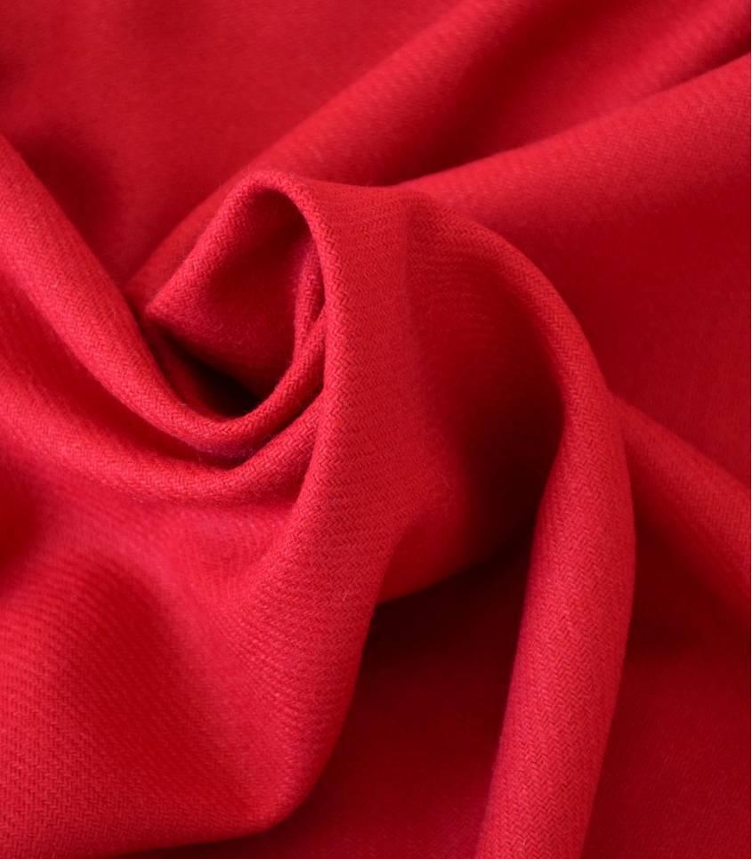 Flanelle de laine rouge