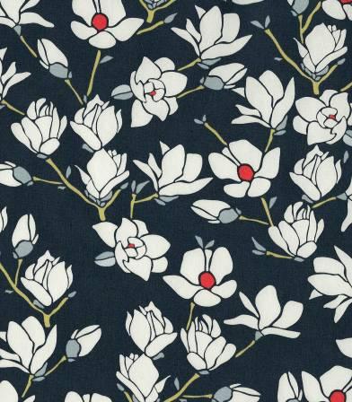 Tissu Magnolia Nightfall
