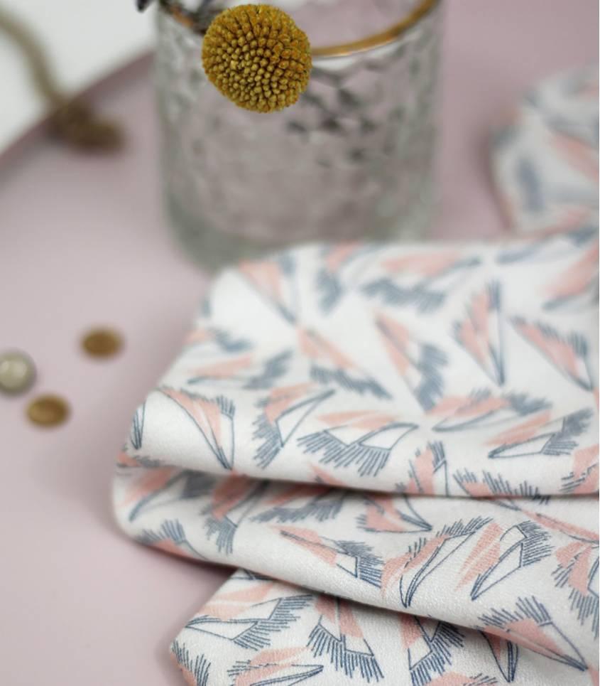 Tissu Sweet Shape / coral pink