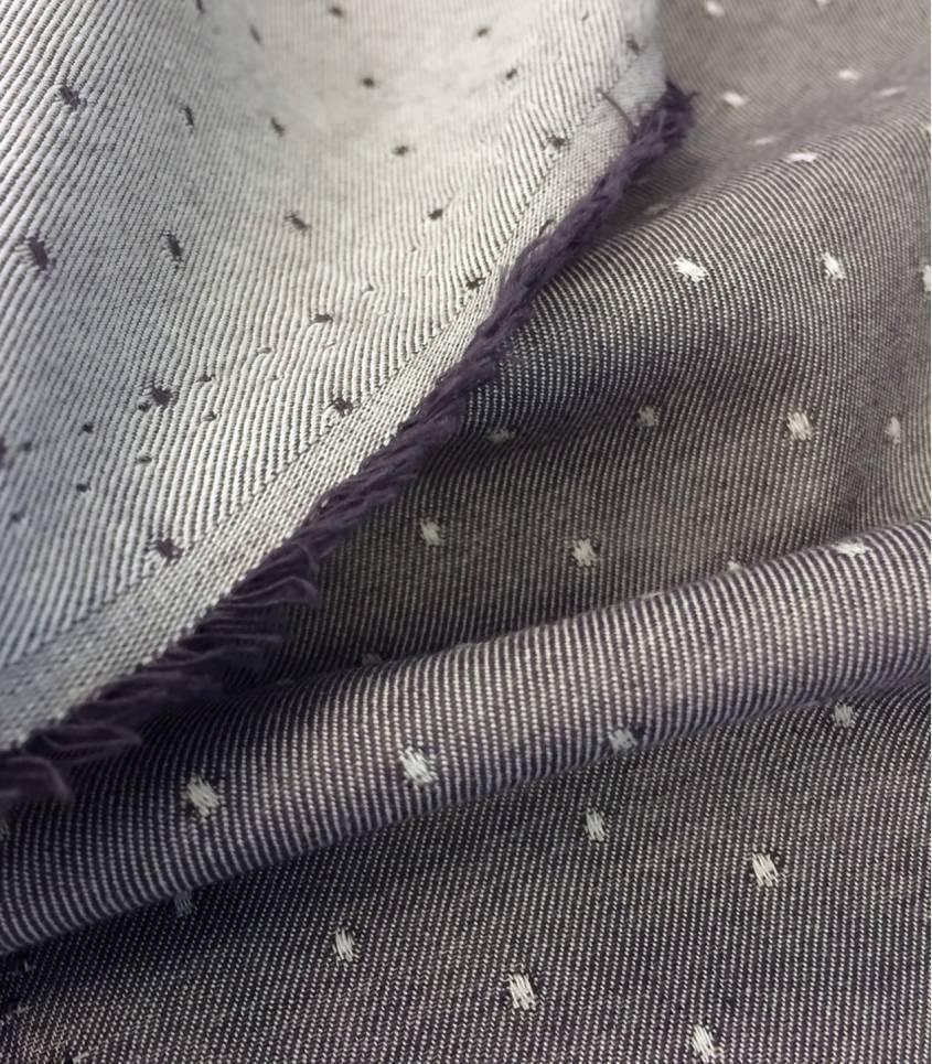 Tissu bio Raw dots violette