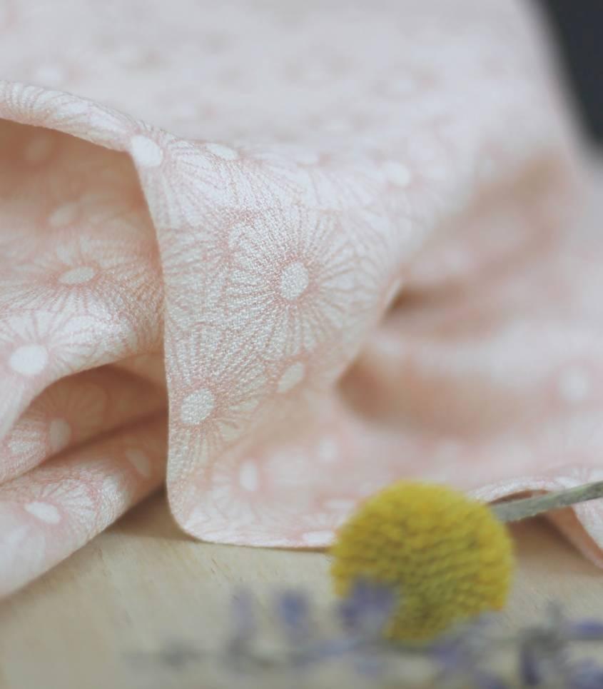Tissu Miss Flower / pale blush