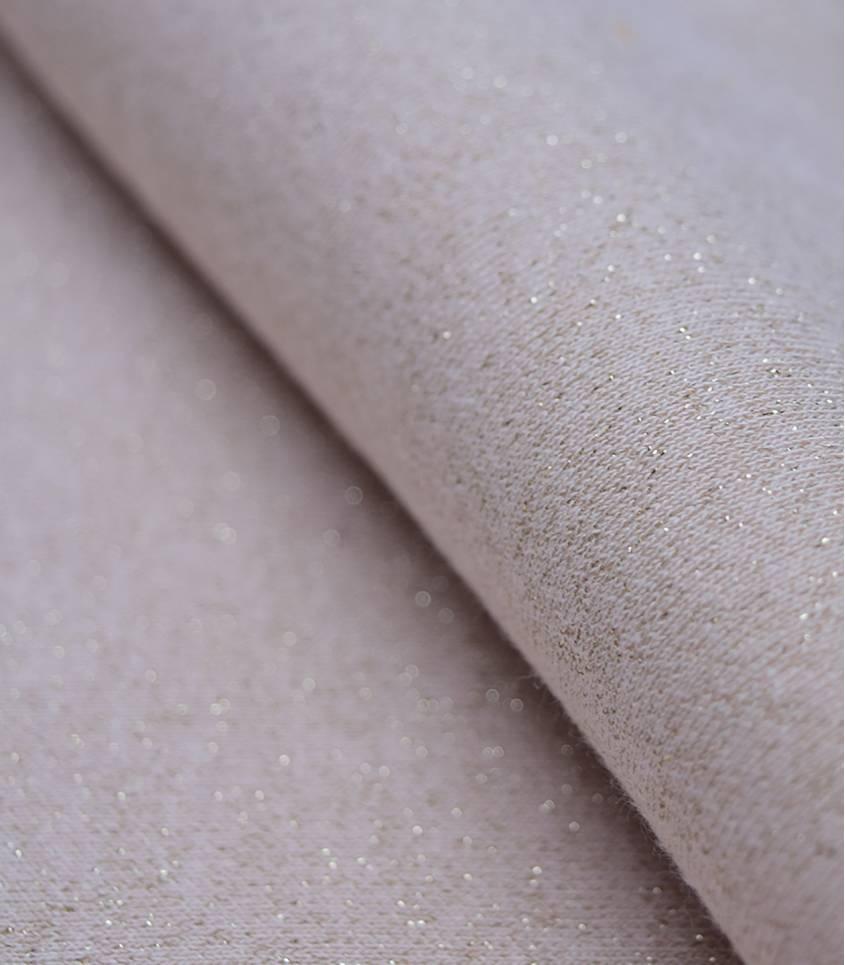 Tissu molleton nude - lurex or
