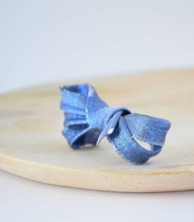 Passepoil bleu roi brillant