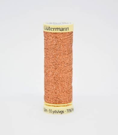 Fil Gütermann métallisé cuivré-36