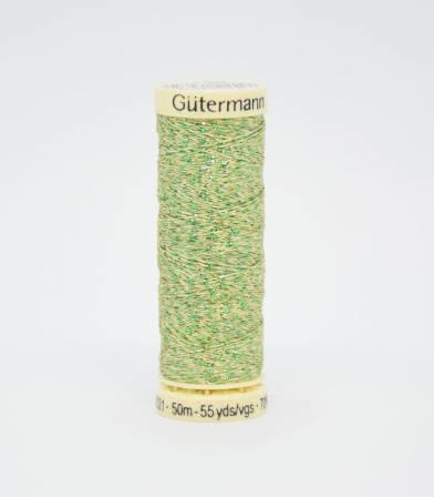 Fil Gütermann métallisé vert-400