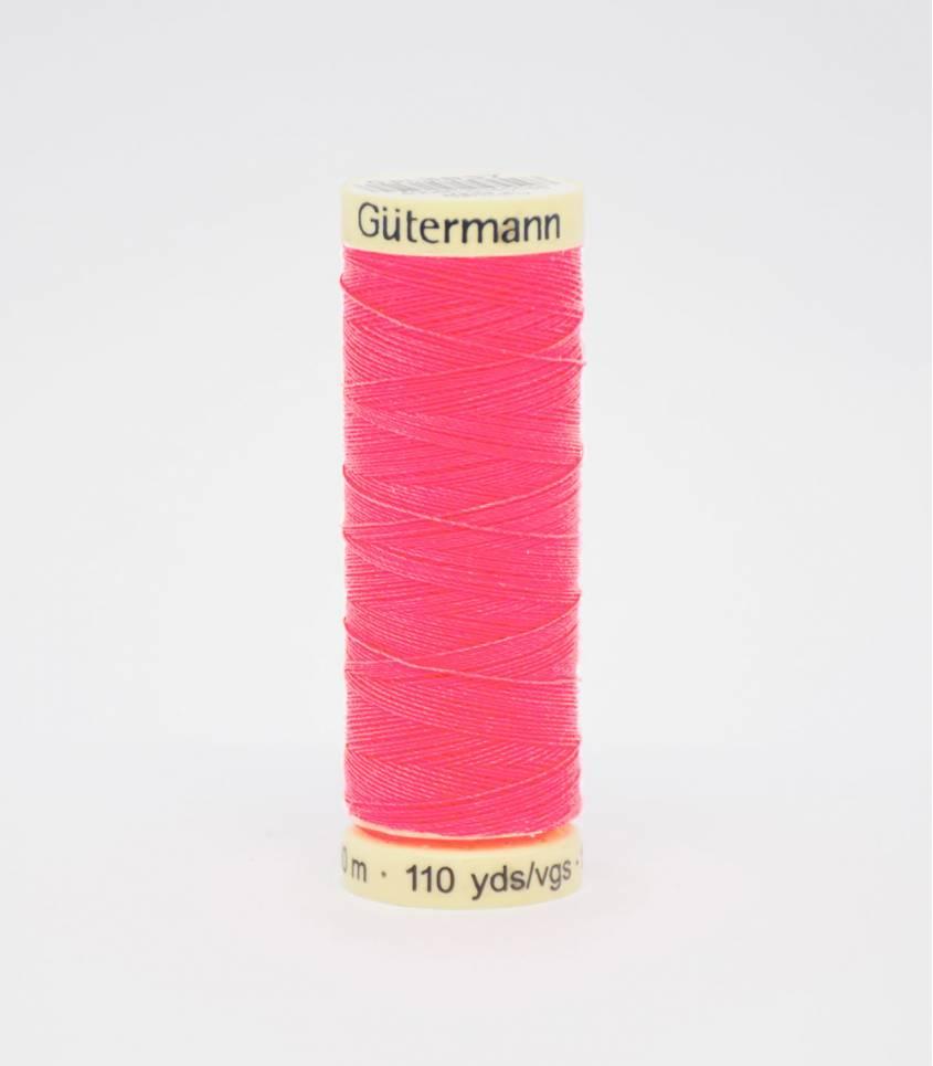 Fil à coudre Gütermann rose fluo-3837